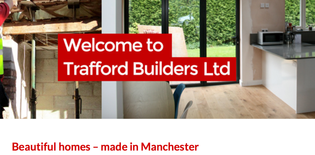 Digital marketing strategy audit example: Trafford Builders