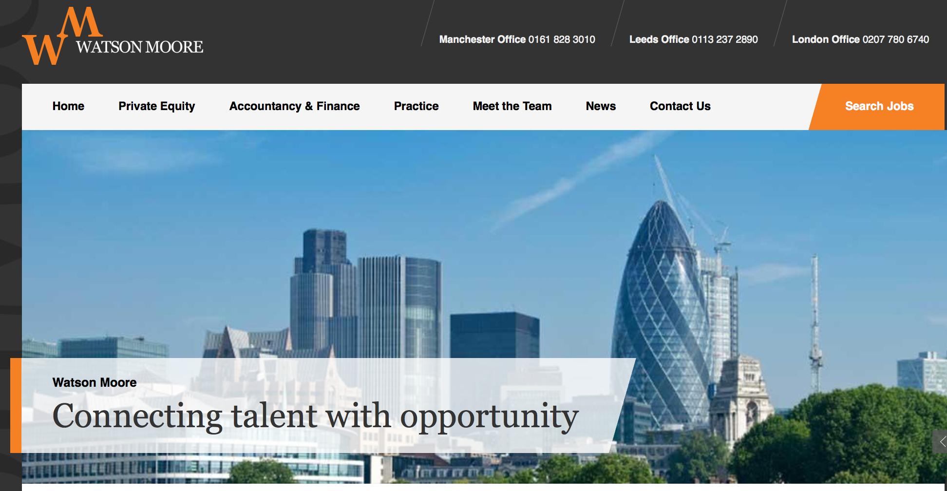 Watson Moore website screenshot