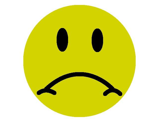 No digital tools - sad face