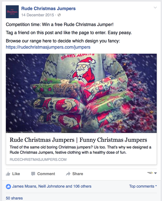 Competition time- Win a free Rude Christmas Jumper!