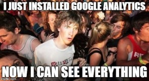 Google Analytics meme sudden clarity clarence reads i just installed google analytics now i can see everything
