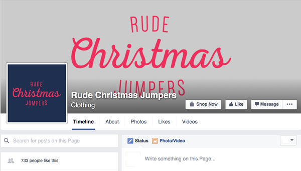 rude christmas jumpers facebook page