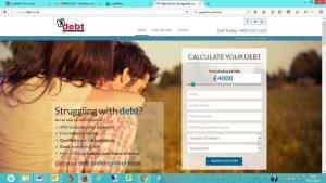 X Debt new website screenshot