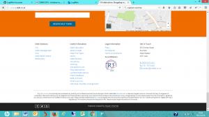 Website footer links