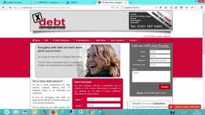 X debt old website screenshot