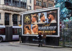 Clear Channel billboard MG Barbershop