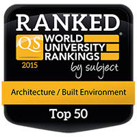 Ranked in the top 50 World University rankings for Architecture and Built Environment